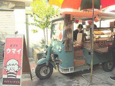 cute food vending motorcycle/car
