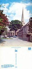 1970's THE CHURCH & ALMSHOUSES BURFORD OXFORDSHIRE COLOUR POSTCARD