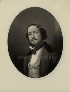 Mezzotint by G. Zobel after a photograph by Caldesi.