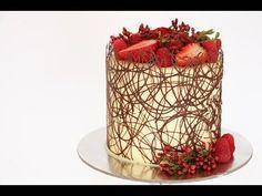Chocolate Border Cake Tutorial- Rosie's Dessert Spot - YouTube