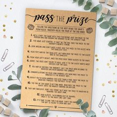 Pass the Prize Rhyme Game Baby Shower Game Baby Shower | Etsy Simple Baby Shower, Baby Shower Brunch, Baby Shower Fall, Baby Shower For Girls, Cute Baby Shower Ideas, Cheap Baby Shower, Baby Ideas, Baby Shower List, Unique Baby Shower Themes