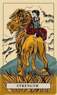 """This Monday's """"English Magic Tarot"""", card is, Strength."""