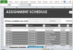 Home Maintenance Schedule Maker Template For Excel  Excel