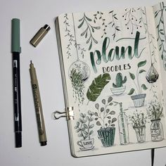 """464 Likes, 30 Comments - Bullet Journal • (@bujo.maripol) on Instagram: """"A little doodle page I did for my november theme.  . . Someone teach me how to take pictures…"""""""
