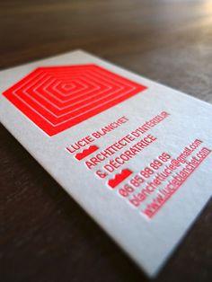 Cartes De Visite Lucie Blanchet Architecte Dinterieur Letterpress