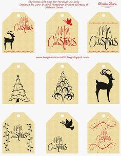 Gifttags Navidad