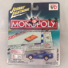 Johnny Lightning 1998 Dodge Viper Car   Monopoly Game Piece #JohnnyLightning #Dodge