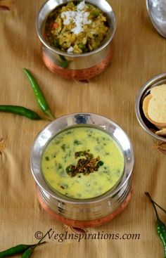 Gujarati Kadhi ~ Seasoned Buttermilk Soup ~ Curry