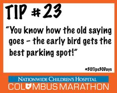 Tip #23: Plan ahead for parking, traffic, road closures, andmore. #30Tips30Days