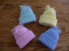 Preemie stocking cap pattern to crochet Preemie Crochet, Crochet Baby Hats, Crochet Beanie, Knit Or Crochet, Crochet For Kids, Crochet Crafts, Crochet Projects, Free Crochet, Baby Hat Patterns