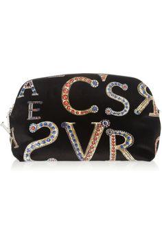 Versace   Printed velvet clutch   NET-A-PORTER.COM