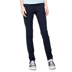 Juniors' Lee Uniforms Original Skinny Stretch Pants, Kids Unisex, Size: 13, Blue (Navy)