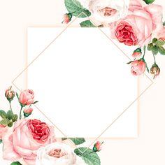 Frame Floral, Flower Frame, Flower Background Wallpaper, Flower Backgrounds, Flower Graphic Design, Pop Art Images, Wedding Invitation Background, Instagram Frame Template, Flower Artwork