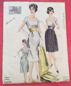 1960 vintage vogue couturier dress  pattern size 14