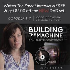 HSLDA is pleased to announce our brand new documentary The Parent Interviews, a follow-up to Building the Machine in which parents speak out about how Common Core is impacting their children.  As a special gift to you, you can watch the documentary for FREE from October 1 to October 7 at www.commoncoremovie.com