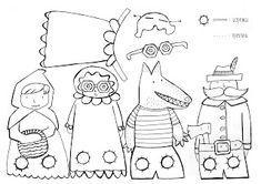 Fantoche Criativo - Chapeuzinho Vermelho - Moldes - Mundinho da Criança - Atividades para Educação Infantil