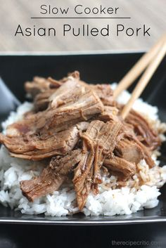 Slow Cooker Asian Pulled Pork at https://therecipecritic.com  This is one of the best things that you will makes!  The flavor is amazing!  So yummy!!