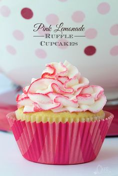 Super moist, lemony cupcakes studded with bits of delicious raspberry - a flavor match made in heaven!