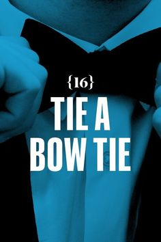 Tie a bow tie. Step 1: Make a simple knot, allowing slightly more length (one to two inches) on the end of A. Step 2: Lay A out of the way, fold B into the normal bow shape, and position it on the first knot you made. Step 3: Drop A vertically over folded end B. Step 4: Double back A on itself and position it over the knot so that the two folded ends make a cross....