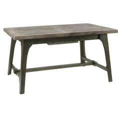 Oregon Industrial Farmhouse Utility Table Gray Brown