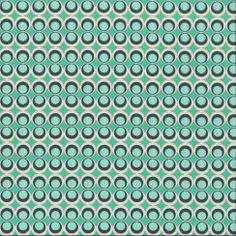 "Art Gallery ""Retro Pop"" mint // MYO STOFFE Online Shop für Patchworkstoffe…"