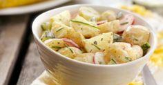 Recette de Salade de pommes de terre aux radis et concombres. Facile et rapide à réaliser, goûteuse et diététique.