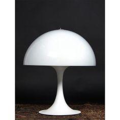 Lampe de bureau vintage en métal et plastique blanc Raak - 1960