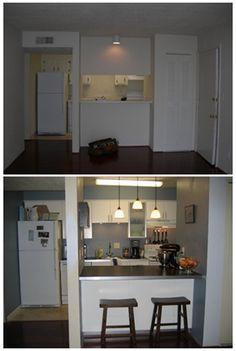 DIY kitchen ~ before & #modern kitchen design #living room design
