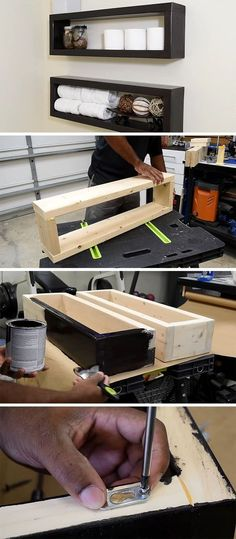 Here's a DIY that shows you how to create an inexpensive modern floating shelf with basic materials found at your local hardware store.