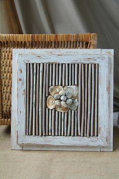 Seashells home decor, Framed wall art, Beach style home decoration Rustic Style, Rustic Decor, Farmhouse Decor, Seashell Wreath, Dried Flower Bouquet, Candle Centerpieces, Handmade Home Decor, Seashells, Flower Decorations