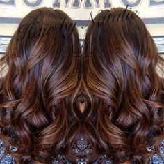 Resultado de imagen para caramel color hair highlights.