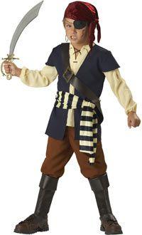Kids Deluxe Pirate Mate Pirate Costume - Pirate Costumes