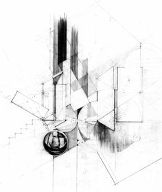 "Drawing ARCHITECTURE |  Hana Leah Bittner, ""not so familiar"""