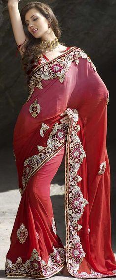 fancy-pink-saree