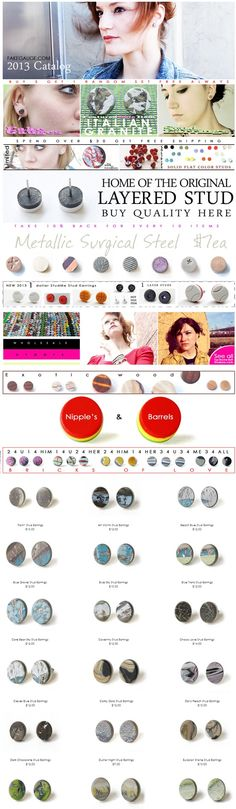 2013 Catalog New Fresh Page, please share these awesome fine art stud earrings!