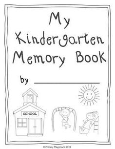 A memory book and portfolio combined, created to document growth of students in PreK to 1st grade; includes drawing, alphabet & number writing samples, as well as numerous school year memory pages $