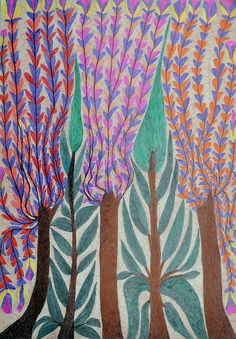 untitled work, coloured pen on paper Salim Karami (contemporary), Iran - self-taught artist (privateview)