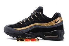 Nike Wmns Air Max 95 Chaussures de Basketball Nike Pas Cher Pour Femme Noir  / Gris