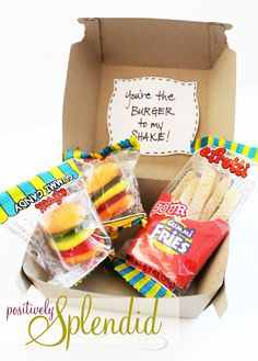 "Cute Valentine Gift Boxes...""You are the Burger to my SHake!"""