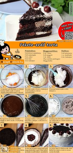 The classic Black Forest cake fits on every cake buffet. The Black Forest Cake Recipe Video is easy to find using the QR code :) Forest cake bake No Salt Recipes, Sweet Recipes, Cookie Recipes, Dessert Recipes, Dessert Oreo, German Baking, Gateaux Cake, Forest Cake, Nutella Recipes