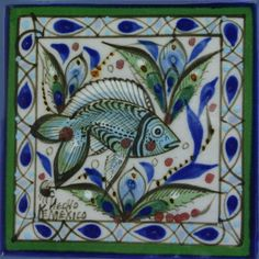 Beautiful tile artwork by Ken Edwards. Order it from Mexican Tile Designs! Painted Ceramic Plates, Ceramic Pottery, Fish Artwork, Tile Art, Wall Tiles, Tropical Decor, Ceramic Artists, Portfolio, Tile Design
