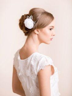 Bridal Floral Hair Comb with Pearls – Florentes
