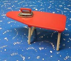 Renwal Red Ironing board Vintage Dollhouse Furniture 1:16 Plastic  | eBay