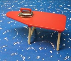 Renwal Red Ironing board Vintage Dollhouse Furniture 1:16 Plastic  | eBay