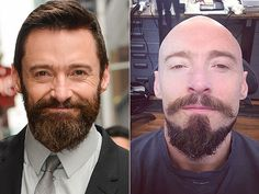 """The actor is gearing up for his role as Blackbeard in the hotly-anticipated Pan (out July 2015), which required him take a razor to his head. """"Blackbeard is born. #PAN,"""" he captioned the above photo (left) on Instagram. Jackman also trimmed his beard and mustache to get fully into character as the evil pirate."""