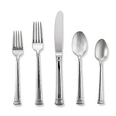 The perfect complement to any fine china, Lenox Eternal Flatware has a sophisticated, tailored channel design. Beautifully crafted in stainless steel, this flatware is dishwasher safe and tarnish free for years of elegant dining. Stainless Steel Dishwasher, Stainless Steel Flatware, Dinner Fork, Elegant Dining, Place Settings, Table Settings, Kitchen Knives, Fine China
