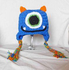 Crochet Monster Hat - Click image to find more Kids Pinterest pins