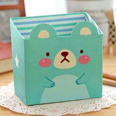 Paper-Board-Cosmetic-Storage-Box-DIY-Makeup-Desk-Organizer-Stationery-Cute