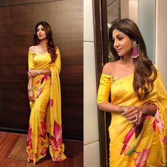 I always admire shilpa shetty and the the way she drapes the gorgeous saree of any style and makes sure she looks stunning. now i am glad… Shilpa Shetty Yoga, Bollywood Celebrities, Bollywood Fashion, Saree Fashion, Bollywood Style, Indian Bollywood, Bollywood Actress, Ootd Fashion, Fashion Beauty