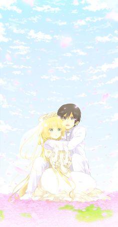 gosick wedding sky kujou victorique Horimiya, Nisekoi, Gosick Victorique, True Love Couples, Tatami Galaxy, Blonde Anime Girl, Crayon Shin Chan, Kimi No Na Wa, Great Love Stories